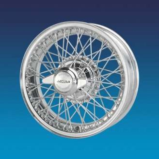 "Jaguar XK120 5""x16""   60 spokes Chrome wire wheel"